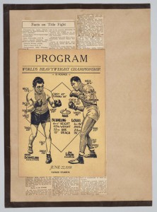 Gumby scrapbook 1938 prize fight